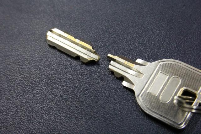 一度折れた鍵は使わないこと